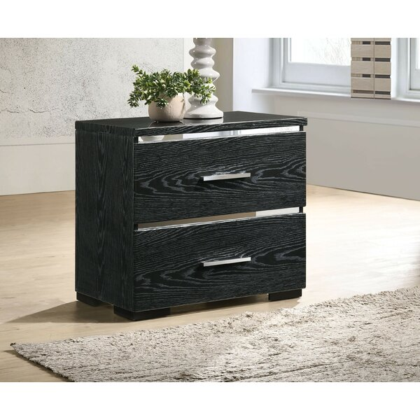 Cardonaghy 2 Drawer Nightstand by Orren Ellis