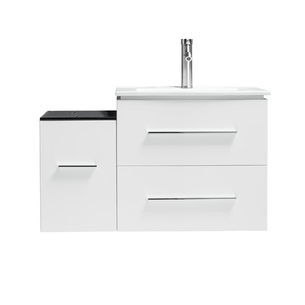 Sandoval 36 Wall-Mounted Single Bathroom Vanity Set by Orren Ellis