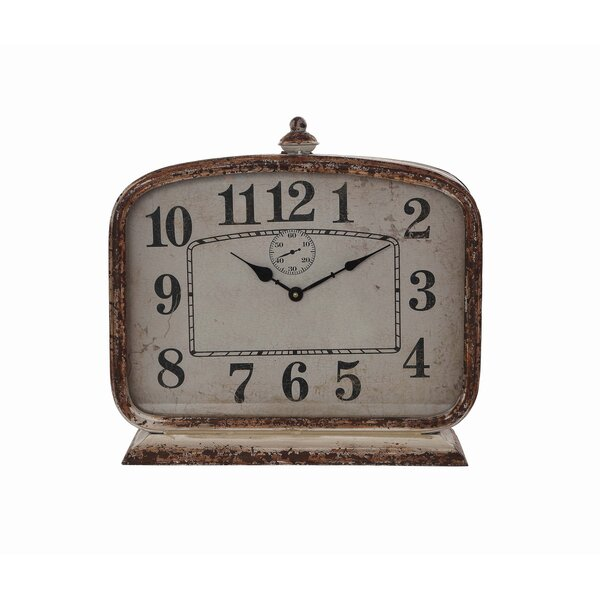 Metal Mantle Clock by Ophelia & Co.