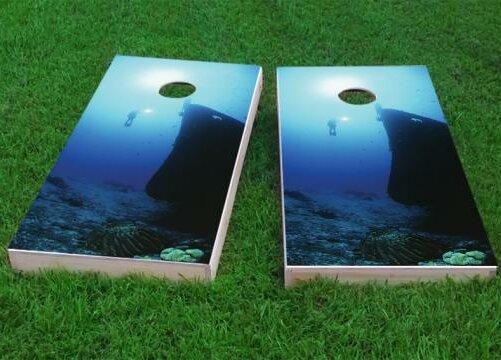 Shipwreck Scuba Dive Cornhole Game (Set of 2) by Custom Cornhole Boards