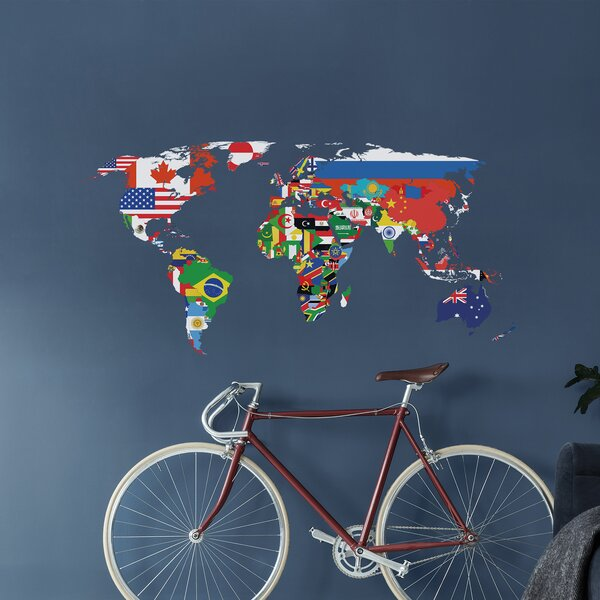 Flags Map Wall Decal by Winston Porter