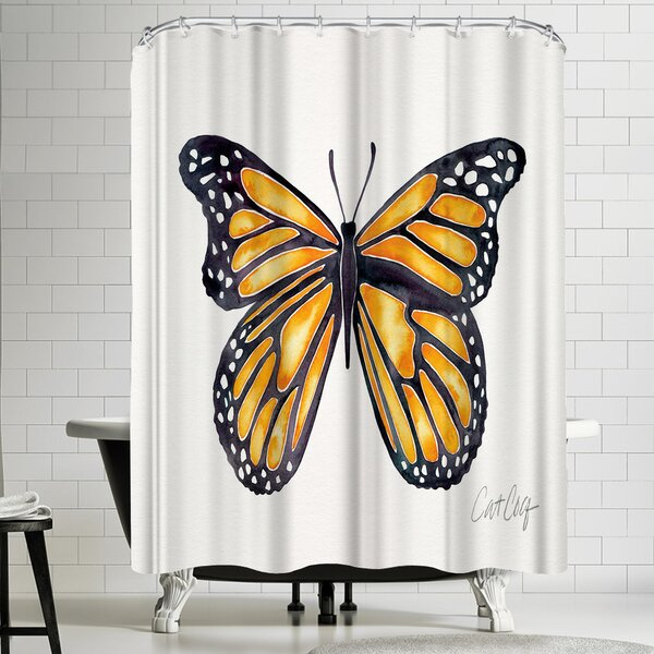 Monarch Shower Curtain by East Urban Home