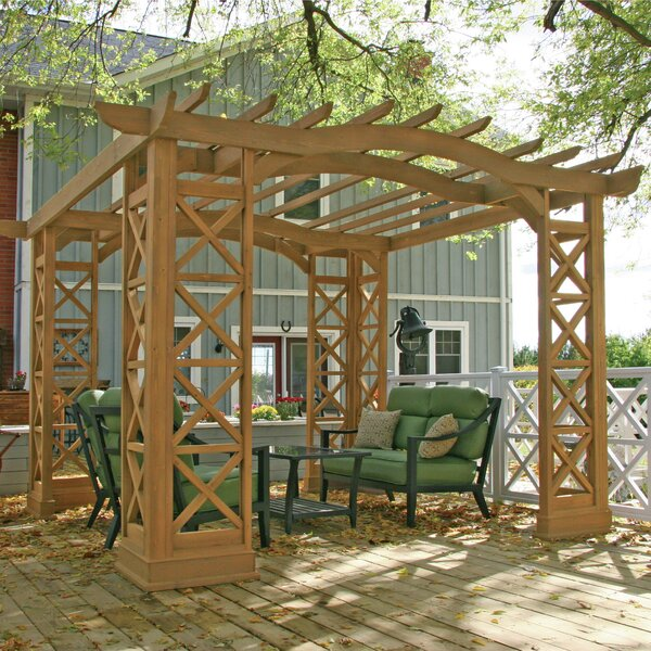 Preston 12 Ft. W x 14 Ft. D Solid Wood Pergola by Yardistry