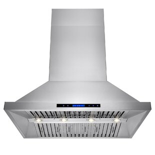 42 557 CFM Ducted Wall Mount Range Hood with Remote By AKDY