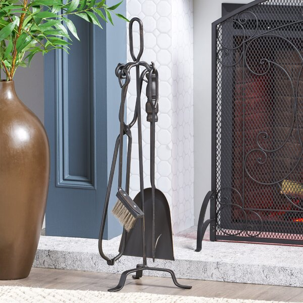 5 Piece Iron Fireplace Tool Set By Home Loft Concepts