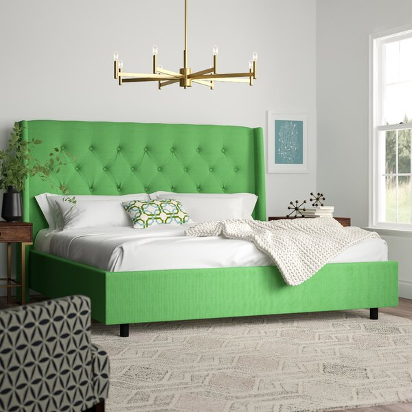 Higdon Upholstered Panel Bed by Brayden Studio