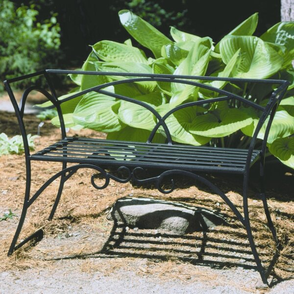 Ameer Wrought Iron Garden Bench by Alcott Hill Alcott Hill