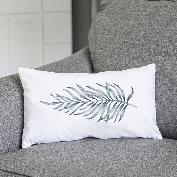 Joellen Palm Leaf Lumbar Pillow by Bayou Breeze