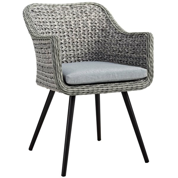 Thayne Patio Dining Chair with Cushion by Ivy Bronx