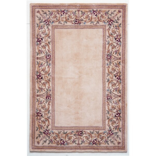 Valeriane Ivory Floral Border Area Rug by August Grove
