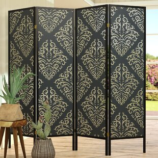 Reviews Elayna 4 Panel Room Divider By World Menagerie
