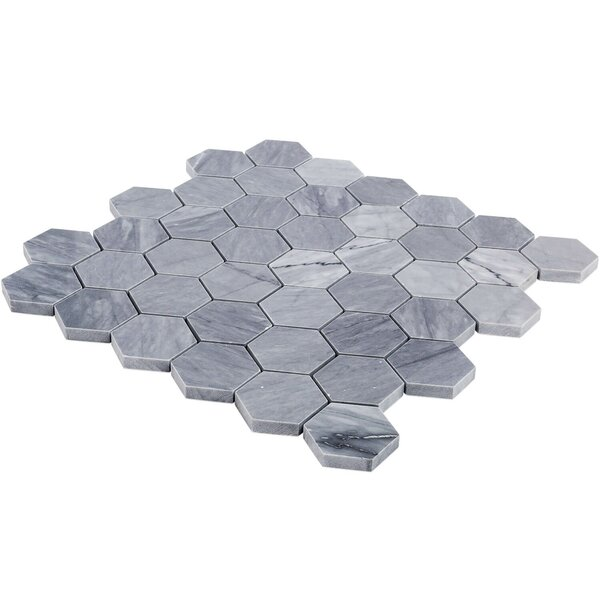 Stowe Hexagon Honeycomb 2 x 2 Marble Mosaic Tile in Gray by Splashback Tile