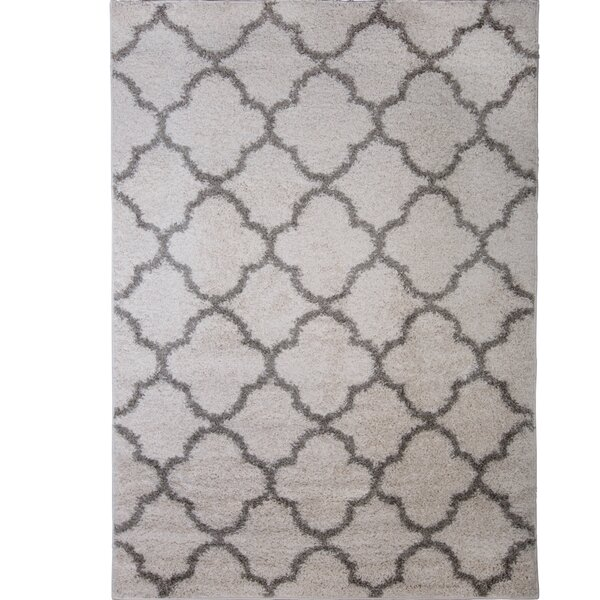 Synergy White/Gray Area Rug by Nicole Miller