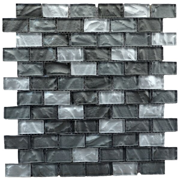 Upscale Designs Glass and Natural Stone Mosaic Tile in Gray by Instant Mosaic