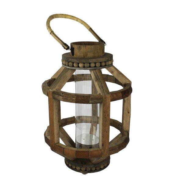 Wood Lantern by Rosecliff Heights