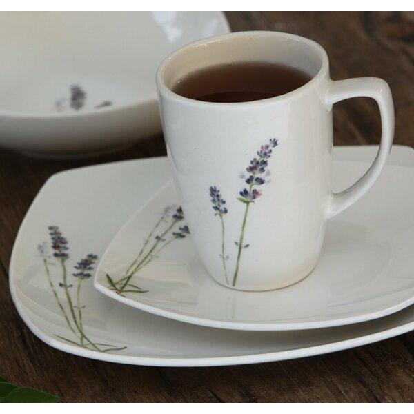 Lavender 16 Piece Dinnerware Set, Service for 4 by Melange