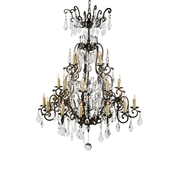 24 - Light Candle Style Tiered Chandelier by Wildwood Wildwood