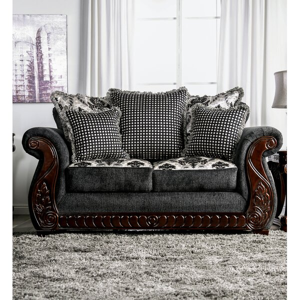Renna Rolled Arms Loveseat by Astoria Grand