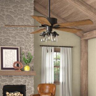 52 Sheyla 5 Blade Ceiling Fan Light Kit Included