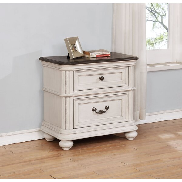 Alisa 2 Drawer Nightstand by One Allium Way