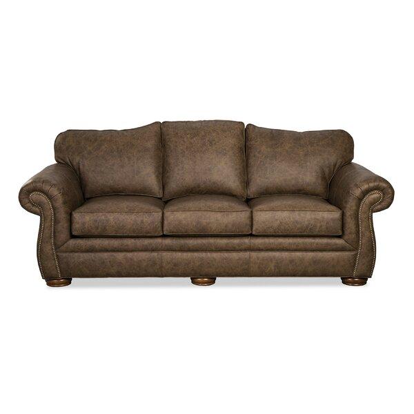 Mocha Leather Sofa By Craftmaster