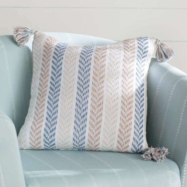 Lockwood Chevron Cotton Throw Pillow by Beachcrest Home