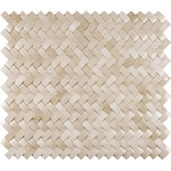 Crema Herringbone Arched 1 x 3 Marble Mosaic Tile in Beige by MSI