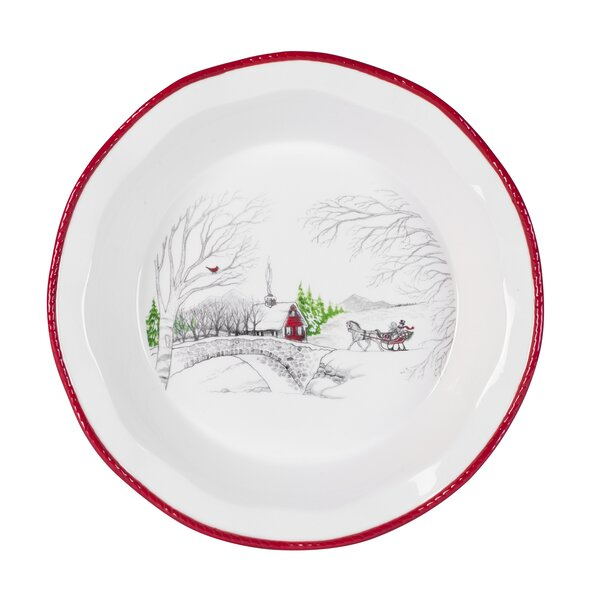Vintage Holiday Pie Plate by Fitz and Floyd