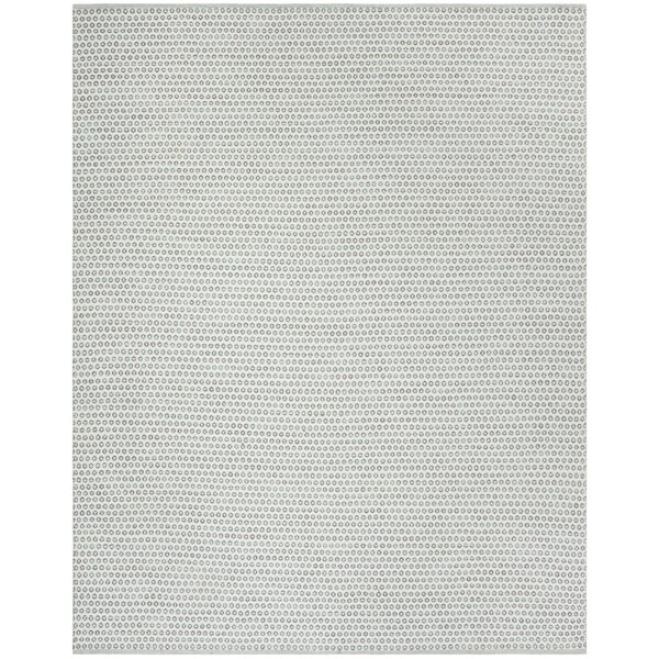One-of-a-Kind Church Street Hand-Woven Cotton Slate/Ivory Area Rug by Highland Dunes
