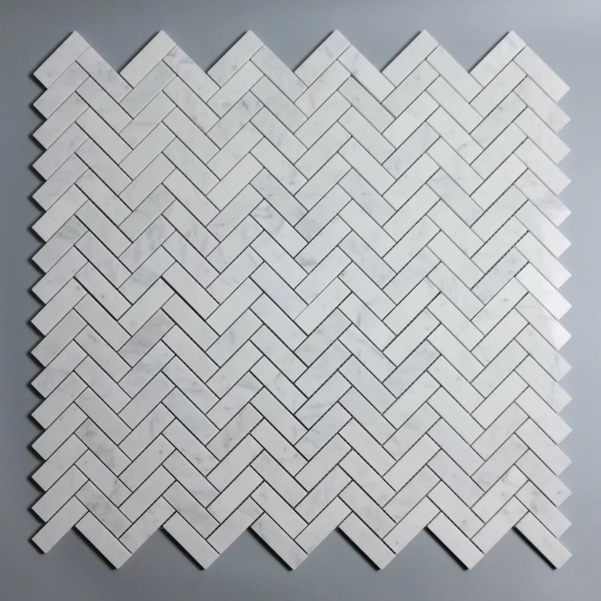 Porpora Marble Herringbone Mosaic Subway Wall Floor Tile