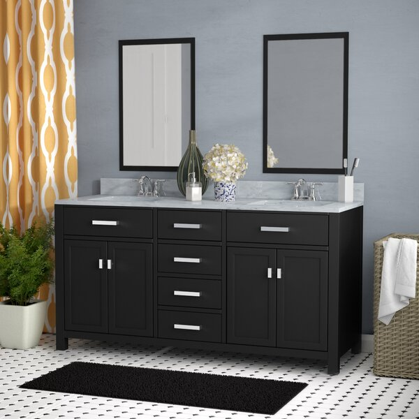 Raven 60 Double Bathroom Vanity Set with Mirror by Andover Mills