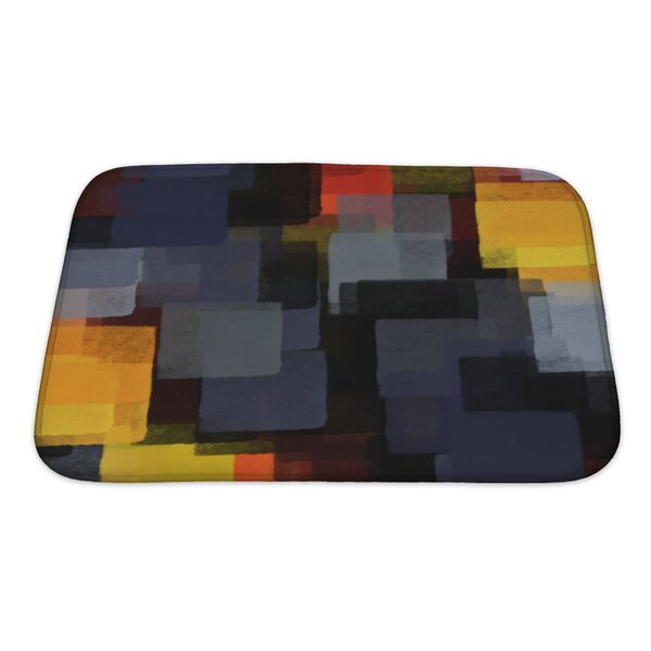 Art Hard Digital Abstract Paint Bath Rug by Gear New