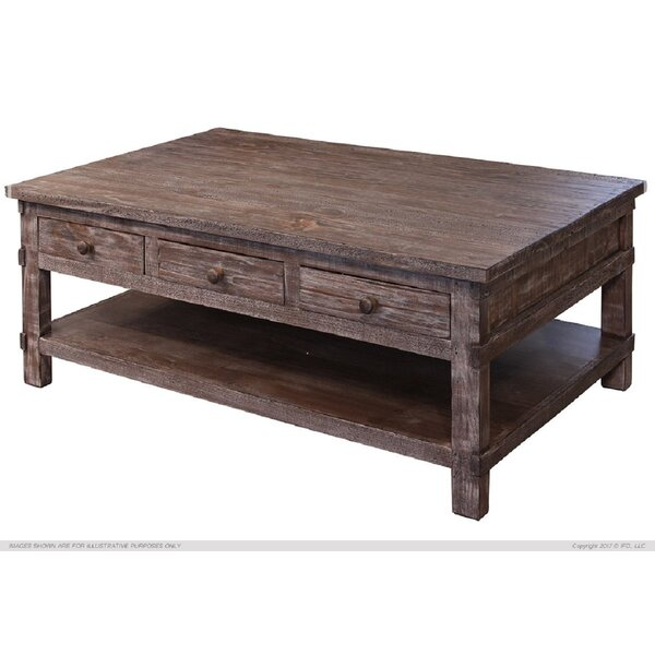 Studley Coffee Table With 6 Drawer By Millwood Pines