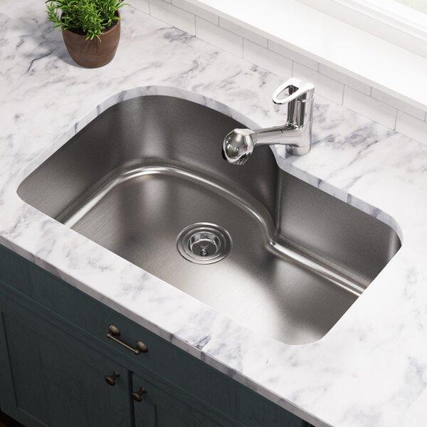 Stainless Steel 31 x 21 Undermount Kitchen Sink by MR Direct