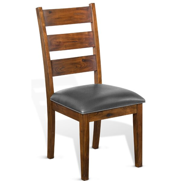 Padilla 2 Piece Solid Wood Dining Chair by Loon Peak