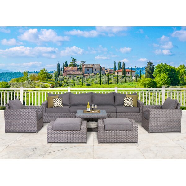 Humnoke 9 Piece Sofa Seating Group With Cushions By Sol 72 Outdoor