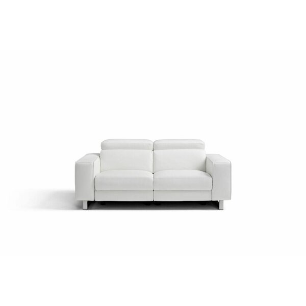 Sania Leather Love Seat by Orren Ellis