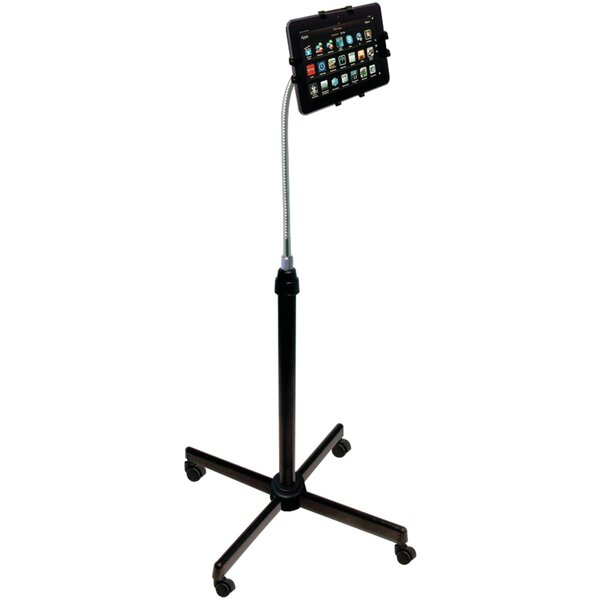 Height-Adjustable Gooseneck Stand with Casters for iPad Air/iPad and Retina Display/iPad 3rd Gen/iPad 2/Tablet by CTA Digital