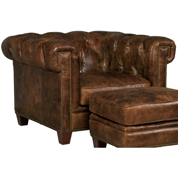 Stationary Chesterfield Chair by Hooker Furniture