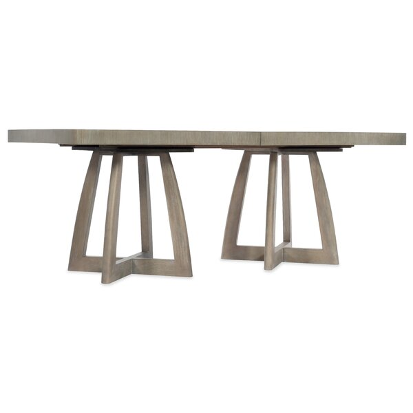Affinity Pedestal Solid Wood Dining Table by Hooker Furniture Hooker Furniture