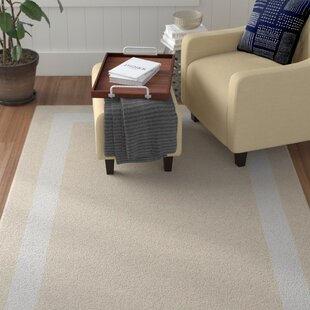 Compare Kahana Border Hand-Tufted Wool Silver/White Area Rug By Red Barrel Studio