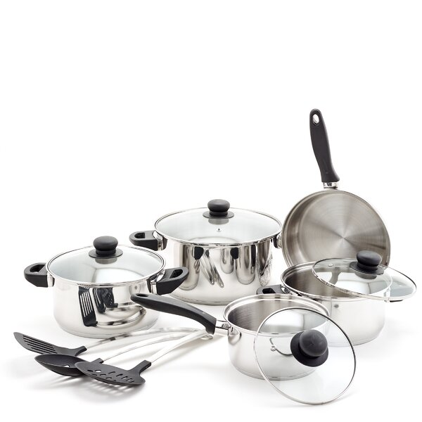 12 Piece Stainless Steel Cookware Set by Old Dutch International