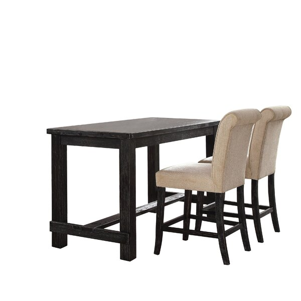 Calila 3 Piece Pub Table Set by Birch Lane Heritage Birch Lane™ Heritage
