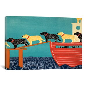 Island Ferry by Stephen Huneck Painting Print on Wrapped Canvas by iCanvas