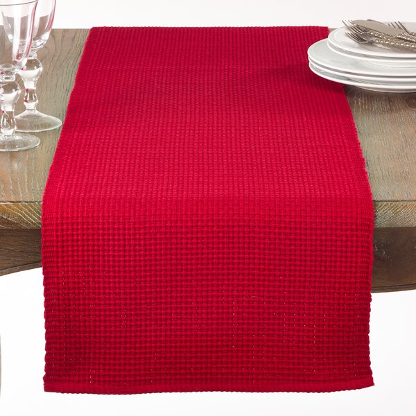 Audrick Textured Woven Table Runner by August Grove