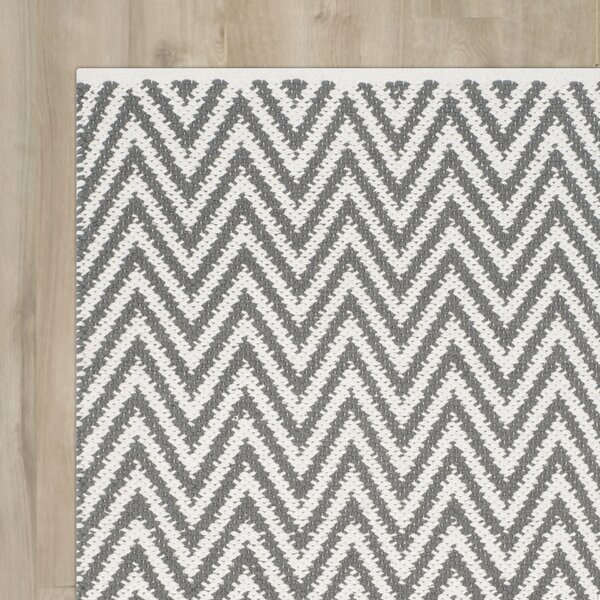 Whitton Hand-Woven Grey/Ivory Area Rug by Wrought Studio