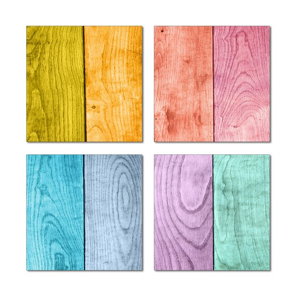 6 x 6 Beveled Glass Field Tile in Blue/Pink by Upscale Designs by EMA