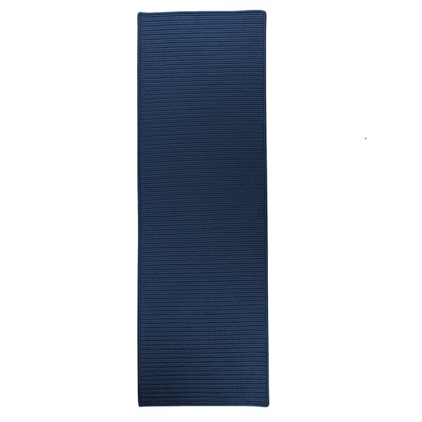 Ashleigh Reversible Hand-Braided Blue Indoor/Outdoor Area Rug by Charlton Home