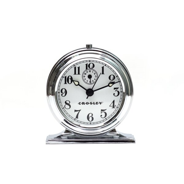 Vintage Cast Metal Tabletop Clock by Crosley
