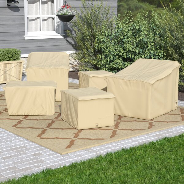 5 Piece Water Resistant Club Chair Covers Set by Andover Mills